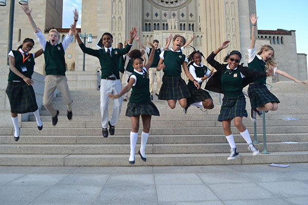 Eighth grade students in Washington DC