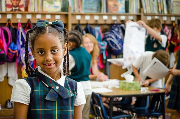 Oaks Academy student smiling