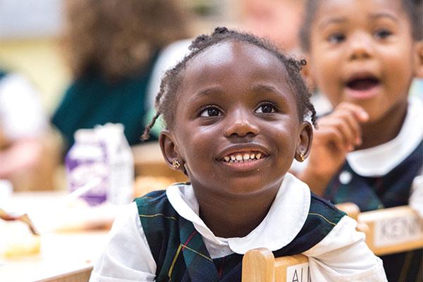 Oaks Academy Pre-Kindergarten student in class